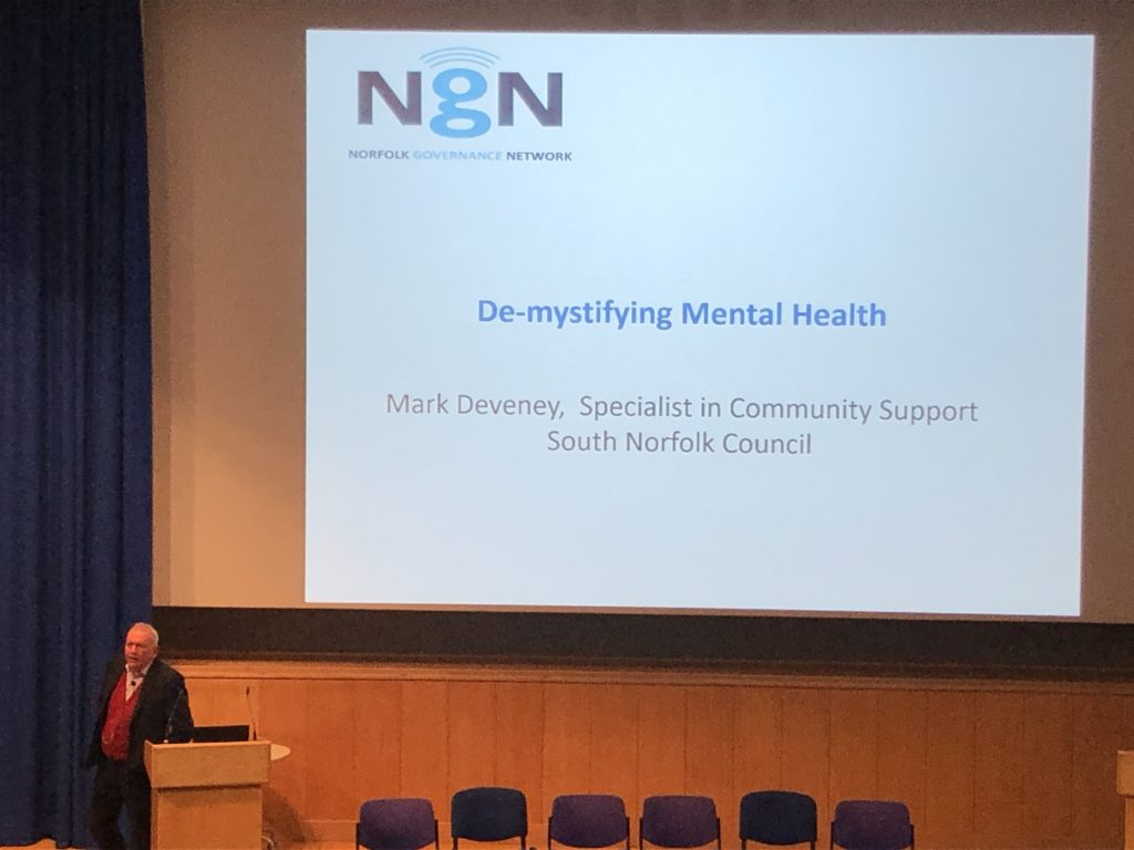 Norfolk Governance Network Autumn Conference 2019 - Mark Deveney - De-mystifying Mental Health